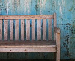 Grunge bench