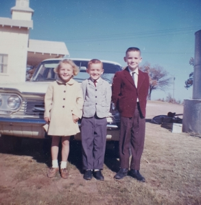 Robbie, Jay and Joe at Morton Valley Baptist Church, Eastland, Texas